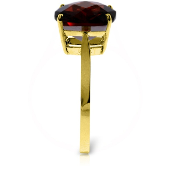 Galaxy Gold Products Jewelry - GOLD RING WITH NATURAL CHECKERBOARD CUT GARNET